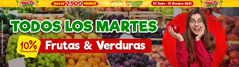 Martes 10% Descuento Frutas Y Verduras
